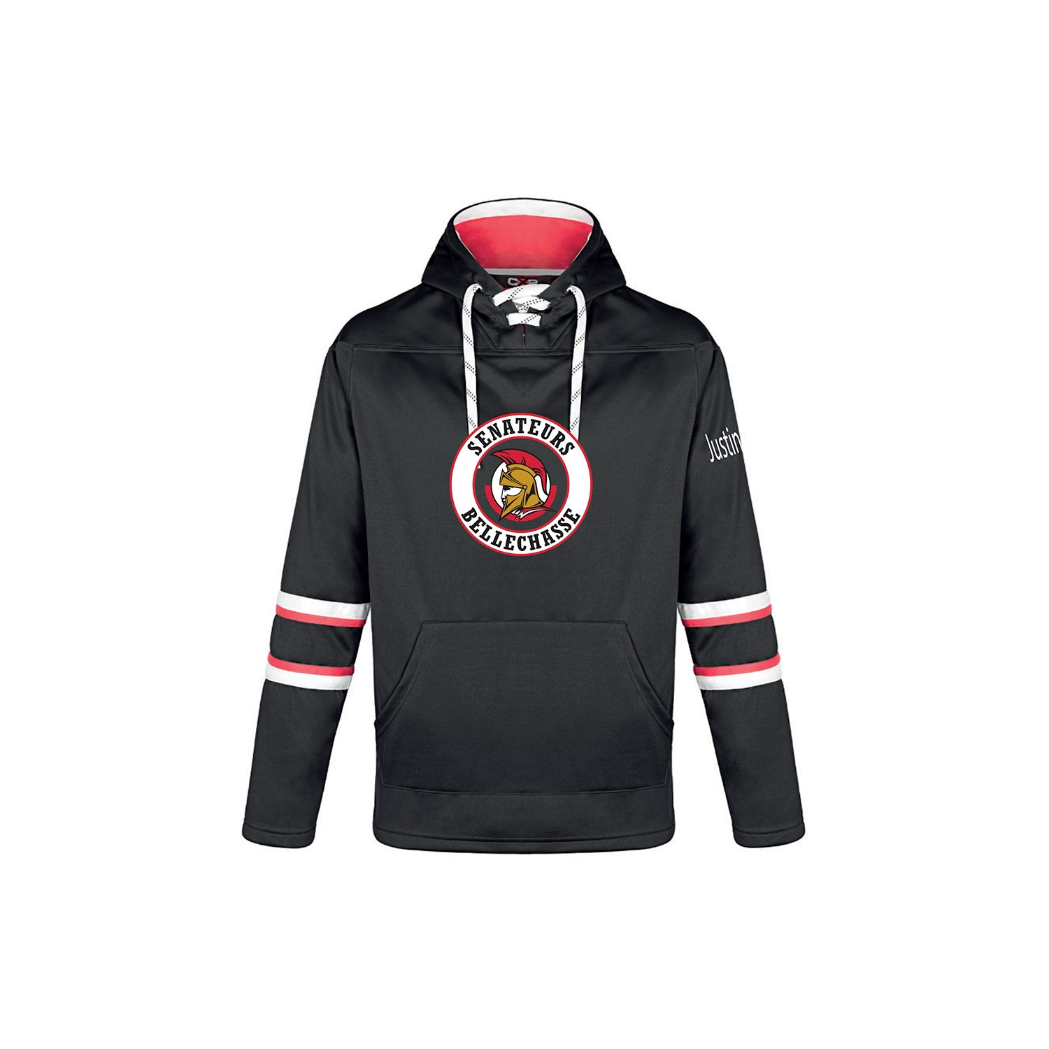 Chandail polyester Hockey à capuchon - Homme